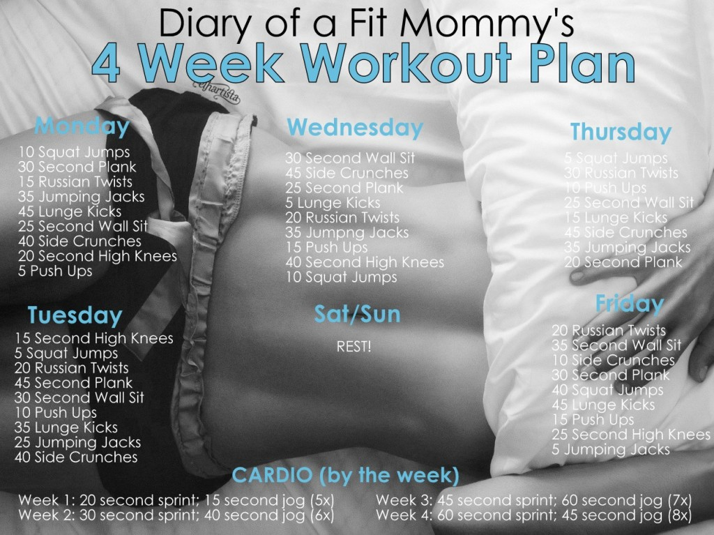 Week plan workout diet 4 and