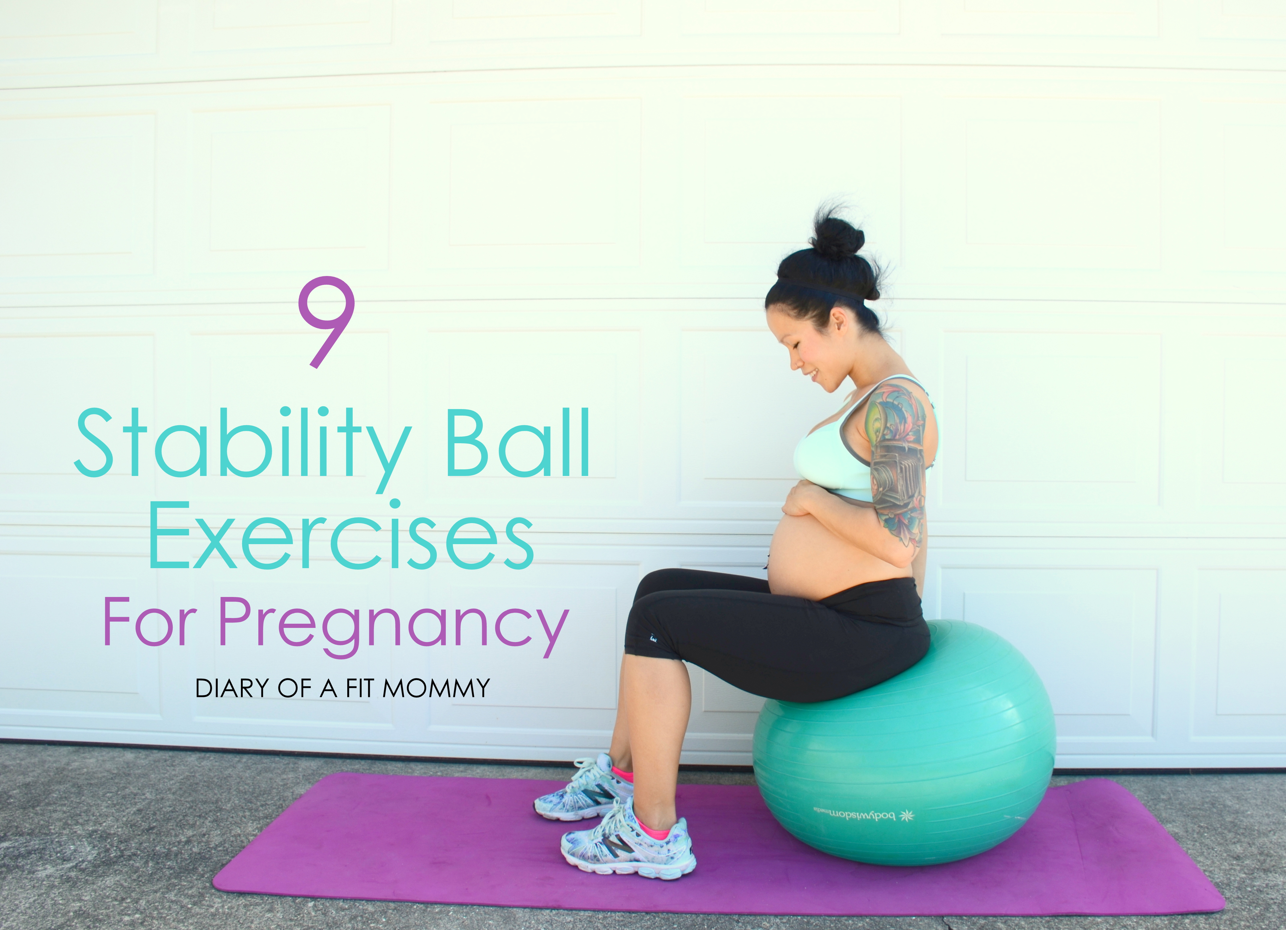 Prenatal Fitness Ball Workout Routine Diary Of A Fit Mommy
